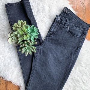 Lucky Brand Black Brooke Fit Straight Jeans